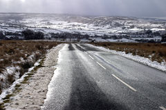 Road in Winter. Taken on North Yorkshire Moors royalty free stock photography