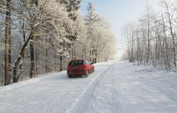The road in winter Stock Photos