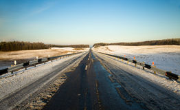 Road (winter) royalty free stock photo