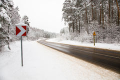 Road in the winter Royalty Free Stock Photography