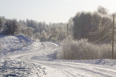 Road in winter Royalty Free Stock Photos