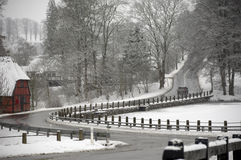 Road at winter Stock Photography