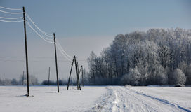 A road in winter Stock Photography