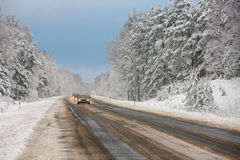 The road in winter Royalty Free Stock Photos