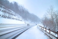 Road and winter Royalty Free Stock Image