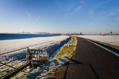 Road on a winter landscape Royalty Free Stock Photos