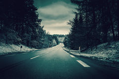 Road in winter landscape Royalty Free Stock Photo