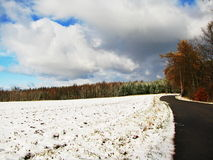 Road in winter Royalty Free Stock Photography