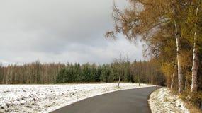 Road in winter Stock Photos