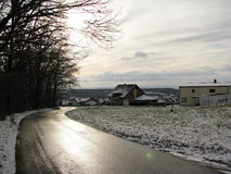 Road in winter Stock Image
