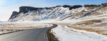 Road Winter Mountain Iceland Stock Images