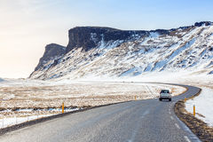 Road Winter Mountain Iceland Royalty Free Stock Photography