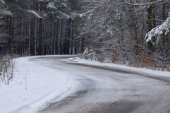 The road in the winter. Stock Image