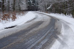 The road in the winter. Royalty Free Stock Image