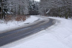 The road in the winter. Royalty Free Stock Photos