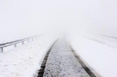 Road in winter with snow Stock Photography