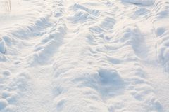 Road in winter on snow. Snowy road. stock images