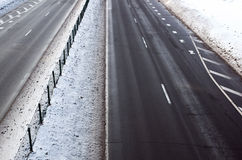 Road in winter time Royalty Free Stock Photo