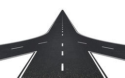 Free Road With Three Ways Royalty Free Stock Images - 41392459
