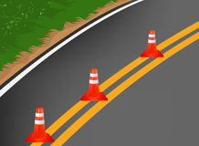 Road With Traffic Cones Royalty Free Stock Photo