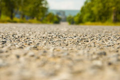 Road in the woods, asphalt horizontal Stock Images