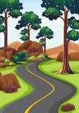 Road in the woods. Illustration Royalty Free Stock Photos