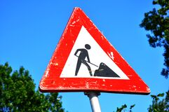 Road work Royalty Free Stock Photos