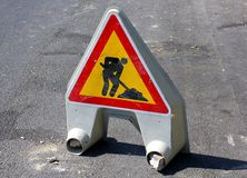 Free Road Work Ahead Royalty Free Stock Image - 21792946