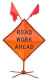 Road work ahead Stock Photos
