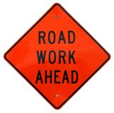 Road Work Ahead. Sign royalty free stock images