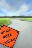 Road Work Ahead Concept Royalty Free Stock Photo