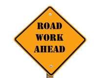 Road work ahead sign Royalty Free Stock Images