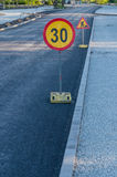 Road work ahead signs Royalty Free Stock Photography