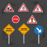 Road work icons or artworks elements set Royalty Free Stock Photo