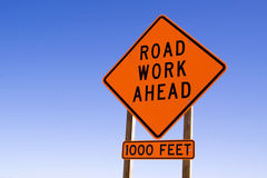 Road work sign Stock Photos