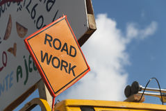 Road work sign Stock Image