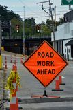 Road work sign royalty free stock image