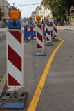 Road work signs Royalty Free Stock Photography