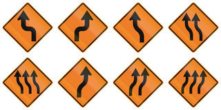 Road Work Signs in Ontario - Canada Stock Photography
