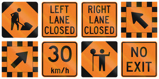 Road Work Signs in Ontario - Canada Royalty Free Stock Images