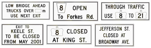 Road Work Signs in Ontario - Canada Royalty Free Stock Photography