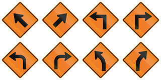 Road Work Signs in Ontario - Canada Stock Image