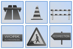 Road work symbols. This is a set of road work symbols Stock Image