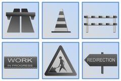 Road work symbols Stock Image