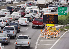 Road work traffic royalty free stock images