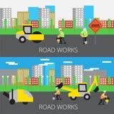 Road work vector illustration stock illustration