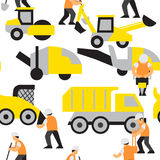 Road work vector pattern Stock Photography