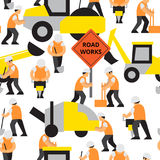 Road work vector pattern Stock Images