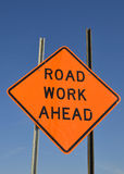 Road work warning sign Stock Image