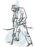 Road worker. Illustration of a road worker to work Stock Photography